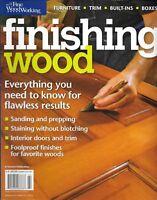 Fine Woodworking Finishing Wood Magazine Sanding Prepping Staining Interiors