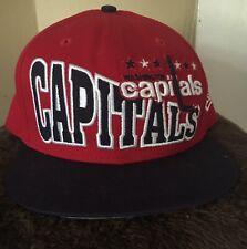 WASHINGTON CAPITALS HAT CAP NEW ERA NHL HOCKEY ADJUSTABLE ONE SIZE FITS ALL