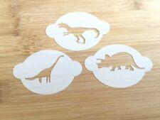 Face paint stencil boys dinosaur party washable reusable 190 micron Myler