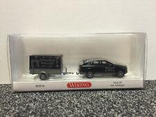 Audi Q7 mit Anhänger 1:87 Wiking