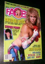 FACES ROCKS MAGAZINE DEC 1986 - BON JOVI / DAVID LEE ROTH SUPER PULL OUTS