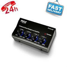 Stereo Headphone Amplifier Pro 4 Channel Power Audio Mixer Splitter Portable Min
