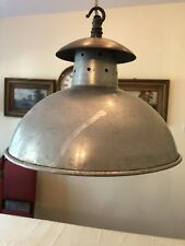 VINTAGE Philips industrial Aluminium and Brass ceiling light