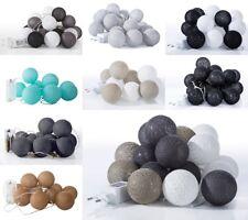 Lämpchen Baumwollkugeln Lichterkette Batterie Kabel LED Schnur Kugel Ball Cotton