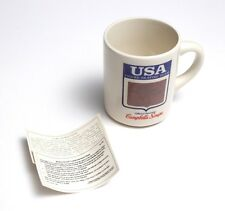 USA Figure Skating Team Campbells Vintage Coffee Cup Mug Heat Sensitive Picture