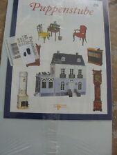 Del Prado - Puppenhaus Heft 25 - blaue Serie - OVP - Hauswand mit Tapete
