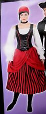 ADULT WOMENS WOMAN PIRATE BEAUTY WENCH S M L Halloween Costume BUCCANEER DRESS