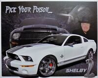PLAQUE métal vintage MUSTANG SHELBY GT 500 - 40 X 30 cm import USA