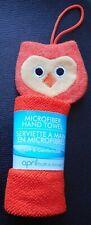 April Bath & Shower New Orange Owl Microfiber Hand Towel Washcloth