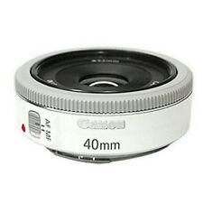 Canon EF 40mm f/2.8 STM Pancake Lens (Bulk Package) - White