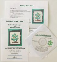 Sew Precious Digitized Machine Embroidery CD Holiday Note Card Christmas 2003