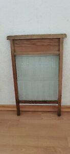 Waschbrett - Holz - Stahlglas - Feinwäsche - Grobwäsche - gebraucht