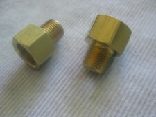 CHEVY Corvette 6-Cylinder 1953 - 1955 FUEL PUMP Inlet Outlet BRASS FITTING Set/2