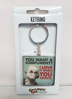Grumpy Old Man Keyring Mens Fathers Day Key Ring Gift Moody Gent Novelty Present