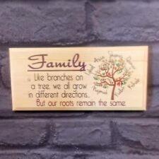 Personalised Family Plaque / Sign / Gift - Branches On A Tree Quote Names Home