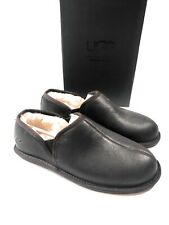 UGG Scuff Romeo II Leather Sheepskin Slippers Brown 1101497 Men's Size 8 NEW