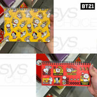 BTS BT21 Official Authentic Goods Weekly or Monthly Planner BITE Ver By Kumhong