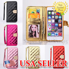 Bling Diamond Flip Wallet Leather Stand Case Cover For iPhone 6S & Plus/iPhone6