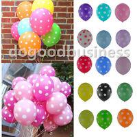 10/20/50/100pcs Polka Dot LATEX BALLOONS Party Wedding Birthday Decorations
