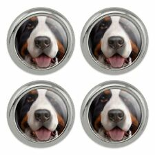 Dog Pet Boston Terrier Face Metal Craft Sewing Novelty Buttons Set of 4