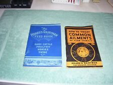 Antique Hoard's Dairyman 1947 Feed Guide & 1940 Common Ailments of Farm Animals