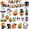 Ghost Spider Bat Skull Shape Foil Balloon Halloween Decor Helium Globos -