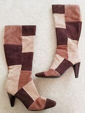 Vintage 60S 70S Patchwork Bandolino Boots Sz 9