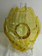 Yellow HANDS OPEN DISH TRANSPARENT GLASS DISPLAY PRODUCTS FRUIT HOLDER