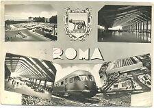 ROMA - VEDUTINE CON TRENO E STAZIONE 1966