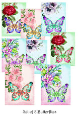 Butterfly Card Toppers - Set of 8/ Butterfly Cardmaking/ Craft Supplies