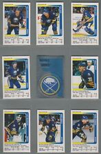 1991-92 Panini Stickers Buffalo Sabres Complete Team Set (15)