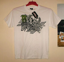 Pro circuit t-shirt Monster Energy Cross nouveau zibra M KX-F KTM CR-F KAWASAKI Blanc