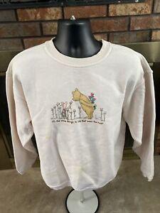 Vintage Winnie The Pooh Piglet Crewneck Sweatshirt Mens Sz XL Disney Friends Vtg