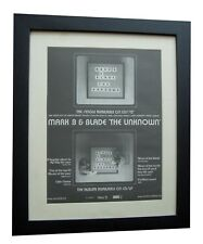 MARK B & BLADE+The Unknown+POSTER+AD+RARE ORIGINAL 2001+FRAMED+FAST GLOBAL SHIP