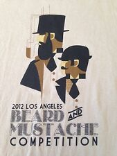 VINTAGE 2012 LOS ANGELES BEARD & MUSTACHE COMPETITION T SHIRT XL