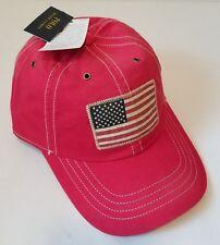 Polo Ralph Lauren USA Flag One Size Red Cotton Fade Baseball Cap NEW