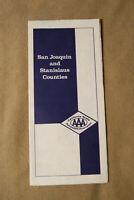 San Joaquin & Stanislaus Counties Road Map - AAA - 1/81