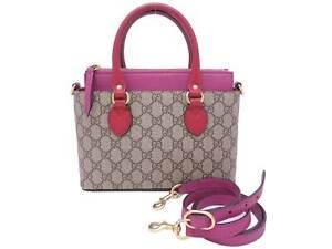 Auth Gucci GG Supreme Small 2-Way Handbag Shoulder Bag *USED* - e47553a