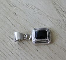 Elegant 925 Sterling Silver Onyx Pendant for Necklace