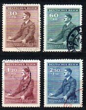 Germany / Bohmen und Mahren - 1942 Birthday Hitler Mi. 85-88 FU