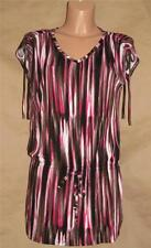 Michael Kors Women's Size M Multi-color Ruched & Adjustable Ties Knit Top