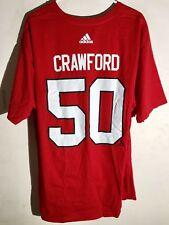 adidas  NHL T-Shirt Chicago Blackhawks Corey Crawford Red sz XL