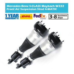 2x Front Air Suspension Struts Fit Mercedes W222 V222 X222 S560 Maybach 4-Matic