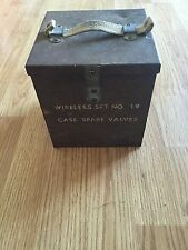 WW2 Field Gear- Wireless Set NO 19 Case Spare Valves- Carrying Case Nice Petina