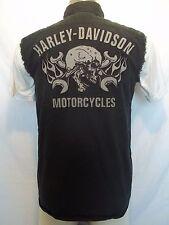 HARLEY-DAVIDSON Blowout Sleeveless Garage Skull shirt sz S Work Motorcycle Biker