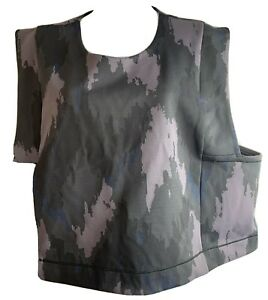 lululemon robert geller,size L/XL,wa short sleeve take the moment tank ,camaufla