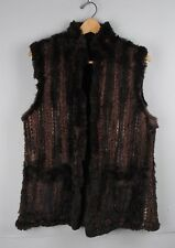 Womens DINO'Z Real Fur Gilet / Vest / Colour: Brown / Size: UK:16