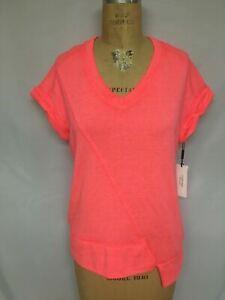 Calvin Klein Performance Asymmetrical T-Shirt PF9T2257 Pink NWT $49