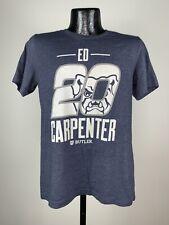 Men's The Shop Ed Carpenter Indy Car Racing Butler University Blue Cotton Tee M