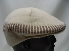 LIGHT BROWN - 57CM (MEDIUM SIZE) FITTED - CABBIE NEWSBOY STYLE FLAT CAP HAT!